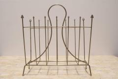 Brass Mid Century French Magazine Rack - 366976