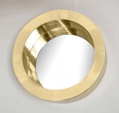 Brass Modernist Circular Mirror - 2041044