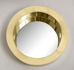 Brass Modernist Circular Mirror - 2041045