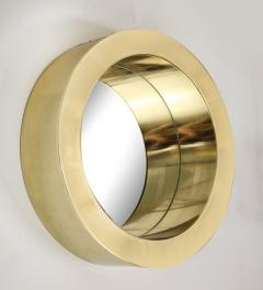 Brass Modernist Circular Mirror - 2041047