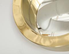 Brass Modernist Circular Mirror - 2041048