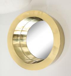 Brass Modernist Circular Mirror - 2041050
