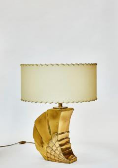 Brass Table Lamp with Parchment Paper Shades - 1110340