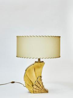Brass Table Lamp with Parchment Paper Shades - 1110344