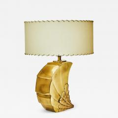 Brass Table Lamp with Parchment Paper Shades - 1110485