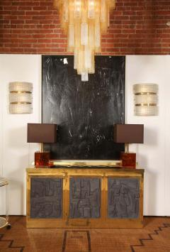 Brass and Black Bespoke Brutalist Style Sideboard or Credenza Italy 2019 - 1260344