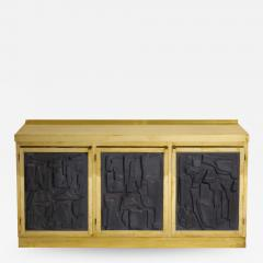Brass and Black Bespoke Brutalist Style Sideboard or Credenza Italy 2019 - 1262672