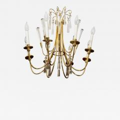 Brass and Crystal Chandelier - 808785
