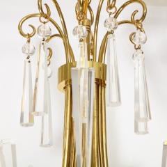 Brass and Crystal Chandelier - 840078