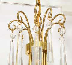 Brass and Crystal Chandelier - 840082