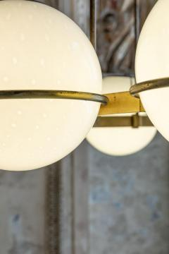 Brass and Glass Chandelier from the Grand Hotel President 3 Available - 1862734
