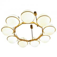 Brass and Glass Chandelier from the Grand Hotel President 3 Available - 1862749