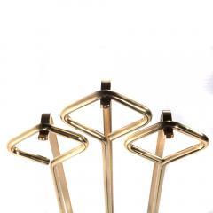 Brass and Glass Fireplace Tool Set Circa 1970s - 482621
