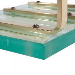 Brass and Glass Fireplace Tool Set Circa 1970s - 482622