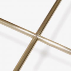 Brass and Glass Tubular Square Cocktail Table - 326768