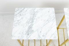 Brass and Marble Side Tables - 1738467