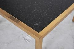 Brass and Stone Coffee Table circa 1970 - 428544