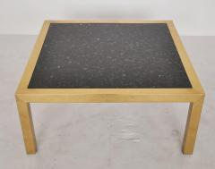 Brass and Stone Coffee Table circa 1970 - 428547