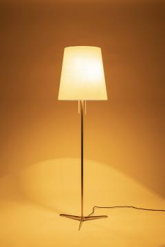 Brass floor lamp 50s Switzerland new lampshade - 1849671