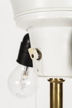 Brass floor lamp 50s Switzerland new lampshade - 1849682