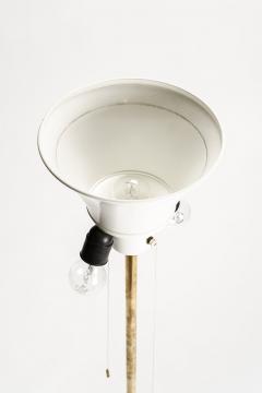 Brass floor lamp 50s Switzerland new lampshade - 1849690