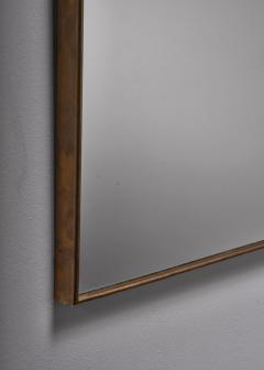 Brass rectangular wall mirror - 1849805