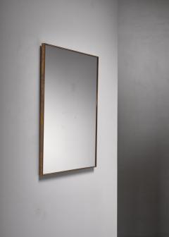 Brass rectangular wall mirror - 1849806