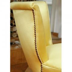 Brass studded upholstered seat - 1223486