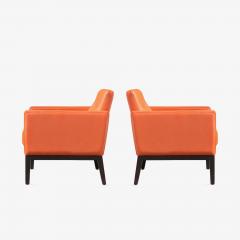 Brayton International Collection Brayton International Club Chairs in Orange Leather Pair - 1652949