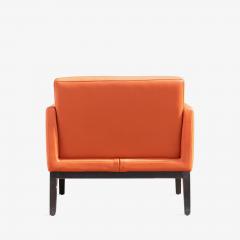 Brayton International Collection Brayton International Club Chairs in Orange Leather Pair - 1652954