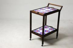 Brazilian Mid Century Modern Tiled Tea Cart with Removable Trays Brazil 1960s - 1412822
