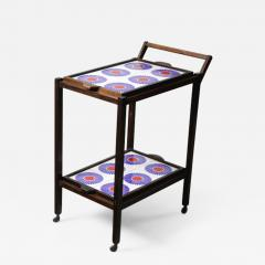 Brazilian Mid Century Modern Tiled Tea Cart with Removable Trays Brazil 1960s - 1414372