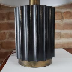 Brazilian Modernist Lamps in Ebonized Wood and Bronze - 1826673