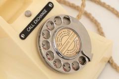 British Art Deco Cream Bakelite Telephone 300 series - 2098840