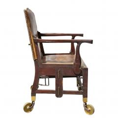 British Military Mahogany and Brass Campaign Chair - 1558063