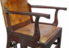 British Military Mahogany and Brass Campaign Chair - 1558065