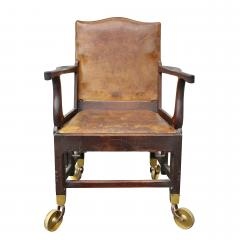 British Military Mahogany and Brass Campaign Chair - 1558066
