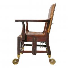 British Military Mahogany and Brass Campaign Chair - 1558067