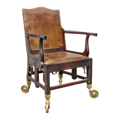 British Military Mahogany and Brass Campaign Chair - 1558077