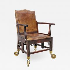 British Military Mahogany and Brass Campaign Chair - 1558533