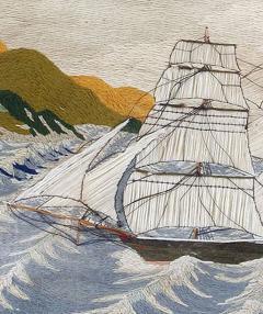 British Sailors Woolwork Woolie on Unusual Sea - 1773299