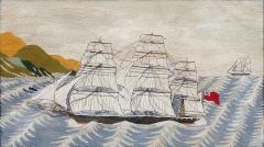 British Sailors Woolwork Woolie on Unusual Sea - 1773301