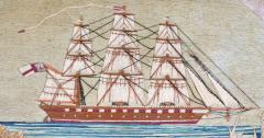 British Sailors Woolwork with House and Bridge - 1727998