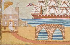 British Sailors Woolwork with House and Bridge - 1727999