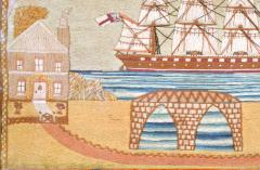British Sailors Woolwork with House and Bridge - 1728000