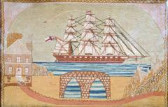 British Sailors Woolwork with House and Bridge - 1728001