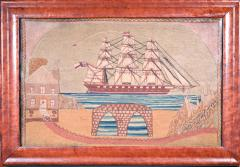 British Sailors Woolwork with House and Bridge - 1728002