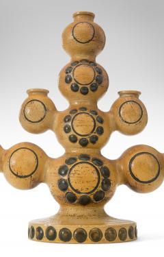 Britt Louise Sundell Britt Louise Sundell for Gustavsberg Pair of Swedish Stoneware Candelabra - 1064744