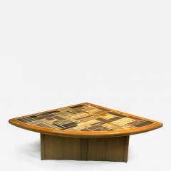 Britt Sallingboe Great Danish Modern Mosaic Tile Top Triangle Wedge Coffee  Table   516561