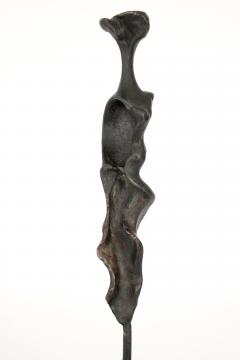 Bronze Abstract Figurative Sculpture on Black Marble Mount - 1616750